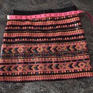 Sequin skirt tribal Aztec design